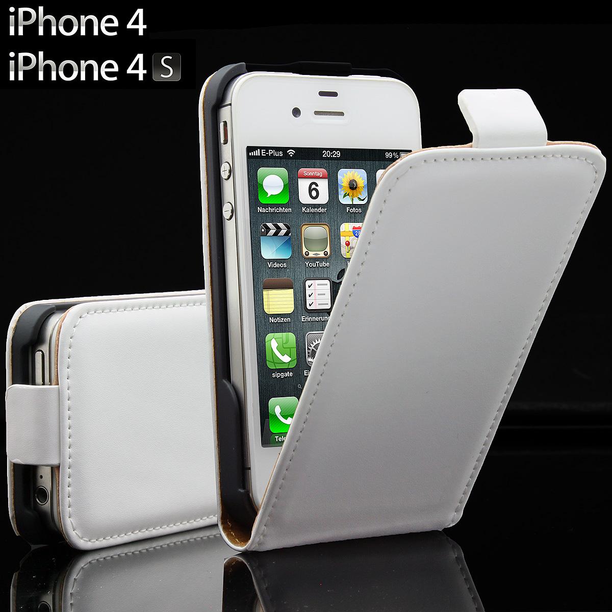 apple iphone 4 4s 4g leder tasche handy h lle flip case. Black Bedroom Furniture Sets. Home Design Ideas