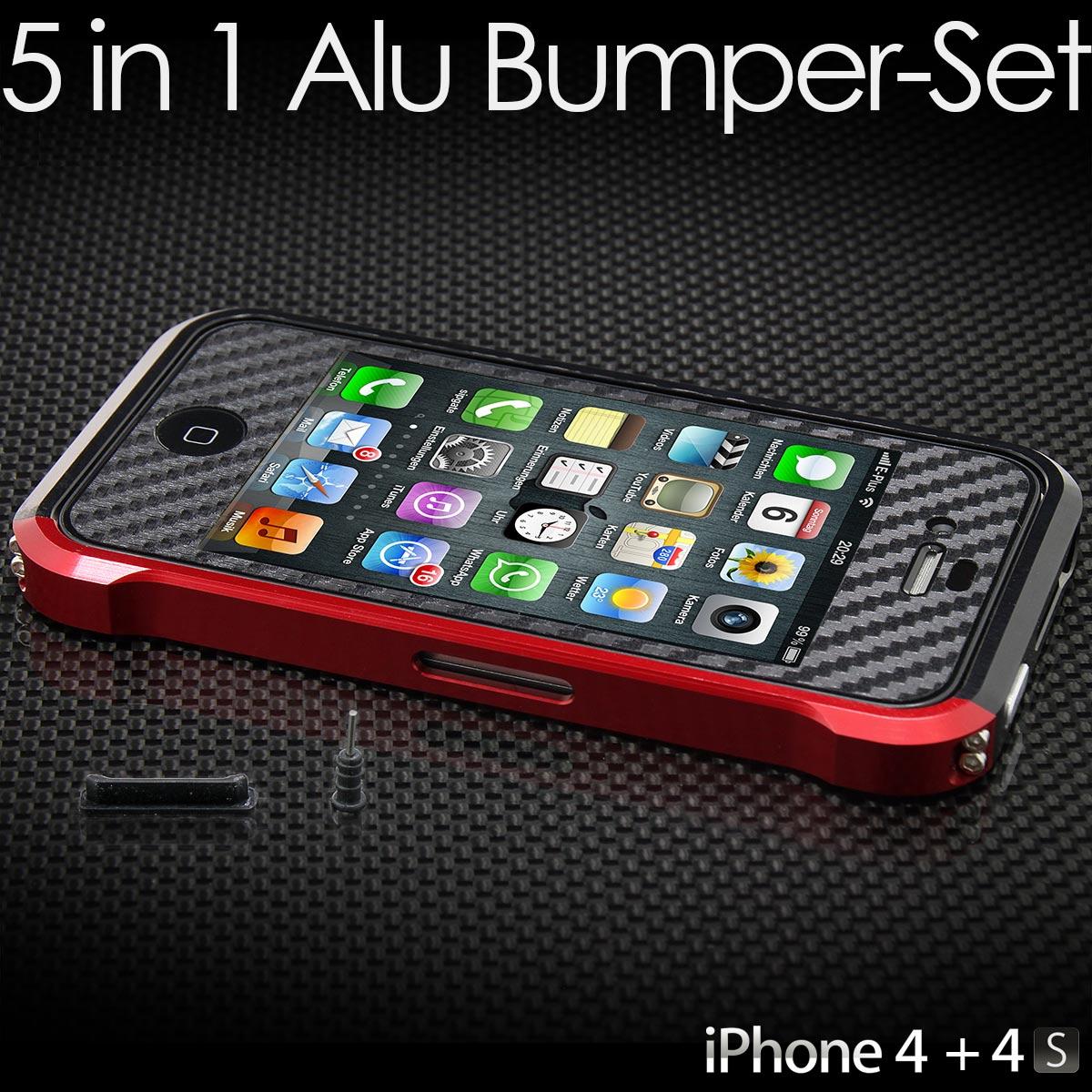 neu iphone 4 4s schutz set aluminium h lle case tasche. Black Bedroom Furniture Sets. Home Design Ideas