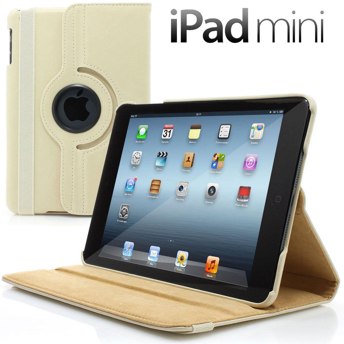 apple ipad mini retina smart schutz h lle leder tasche case cover original beige ebay. Black Bedroom Furniture Sets. Home Design Ideas