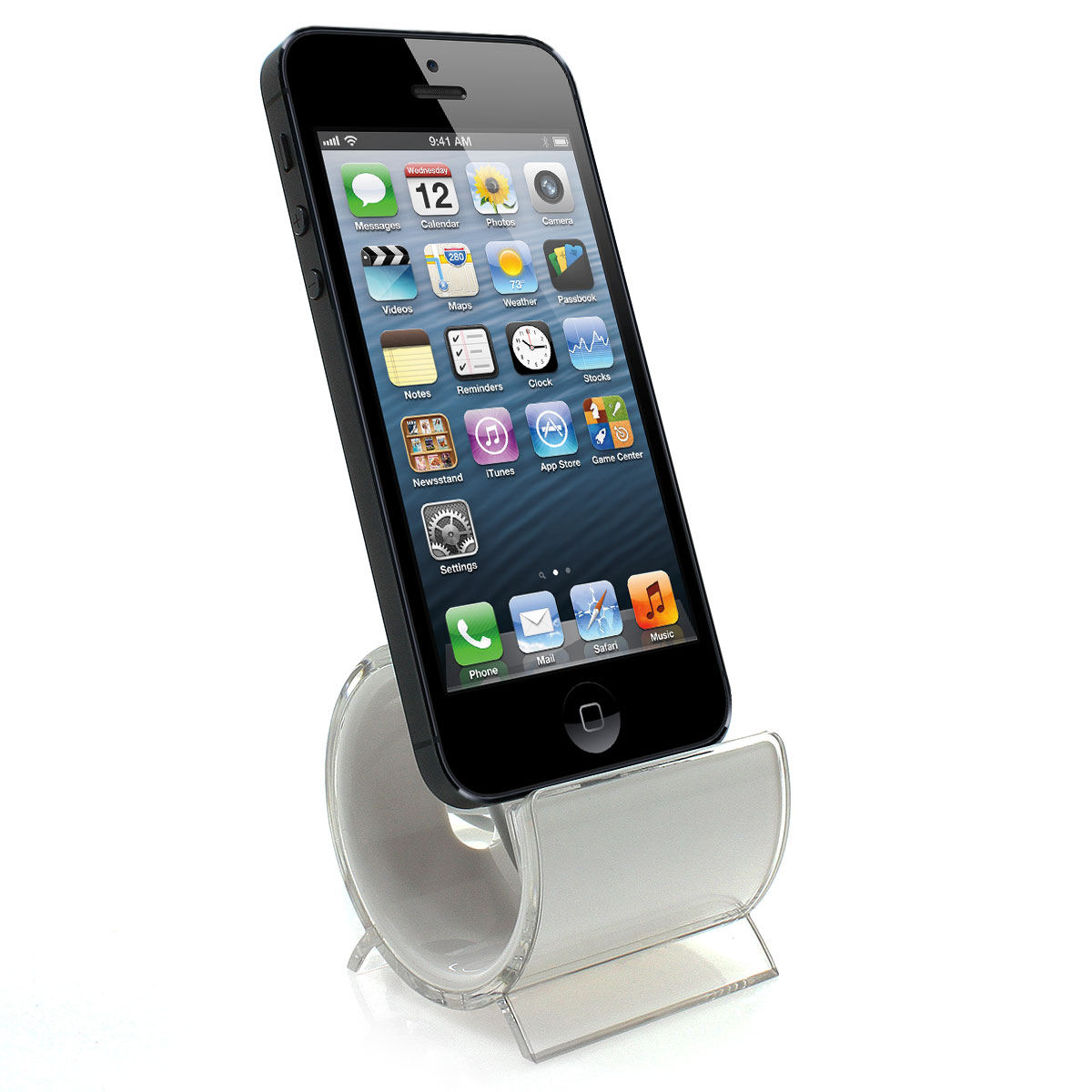 ladestation f r iphone 5 docking station design ladeger t weiss ebay. Black Bedroom Furniture Sets. Home Design Ideas