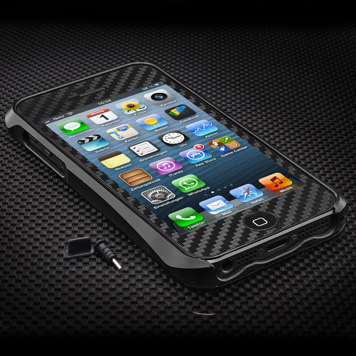 neu iphone 5 5s schutz set aluminium case tasche bumper. Black Bedroom Furniture Sets. Home Design Ideas