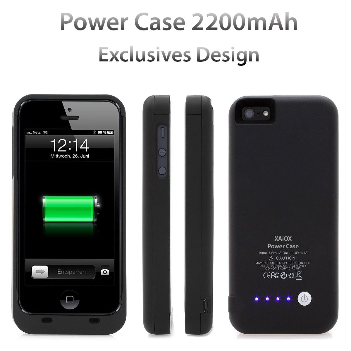 iPhone-5s-Power-Case-Akku-Li-Polymer-Cover-mit-2500mAh-Zusatzakku-schwarz