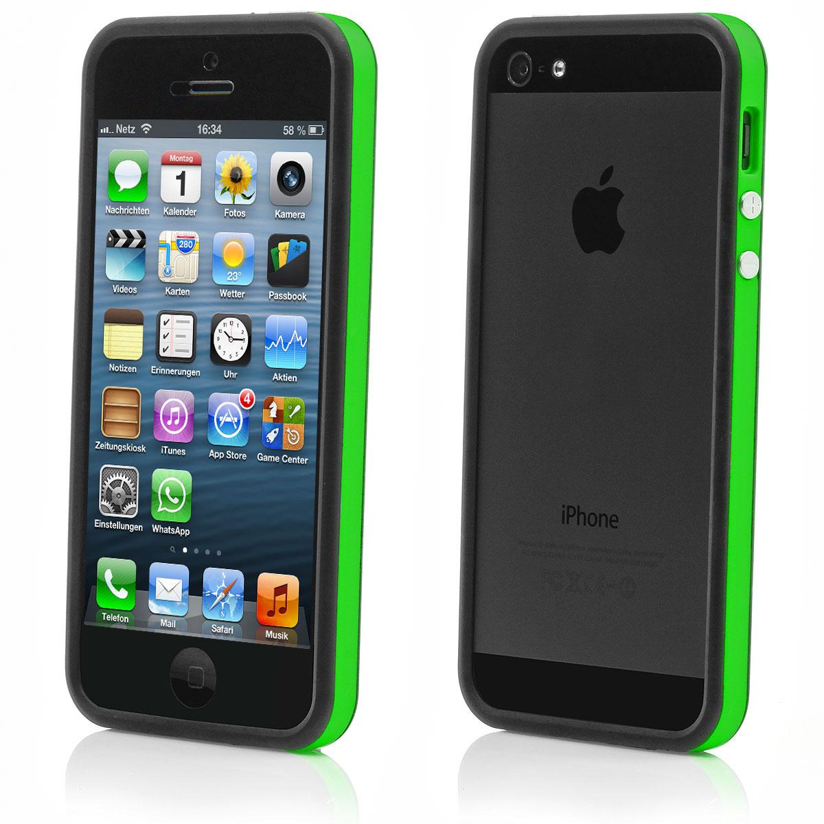 apple iphone 5 5s tpu bumper silikon case schutz h lle. Black Bedroom Furniture Sets. Home Design Ideas