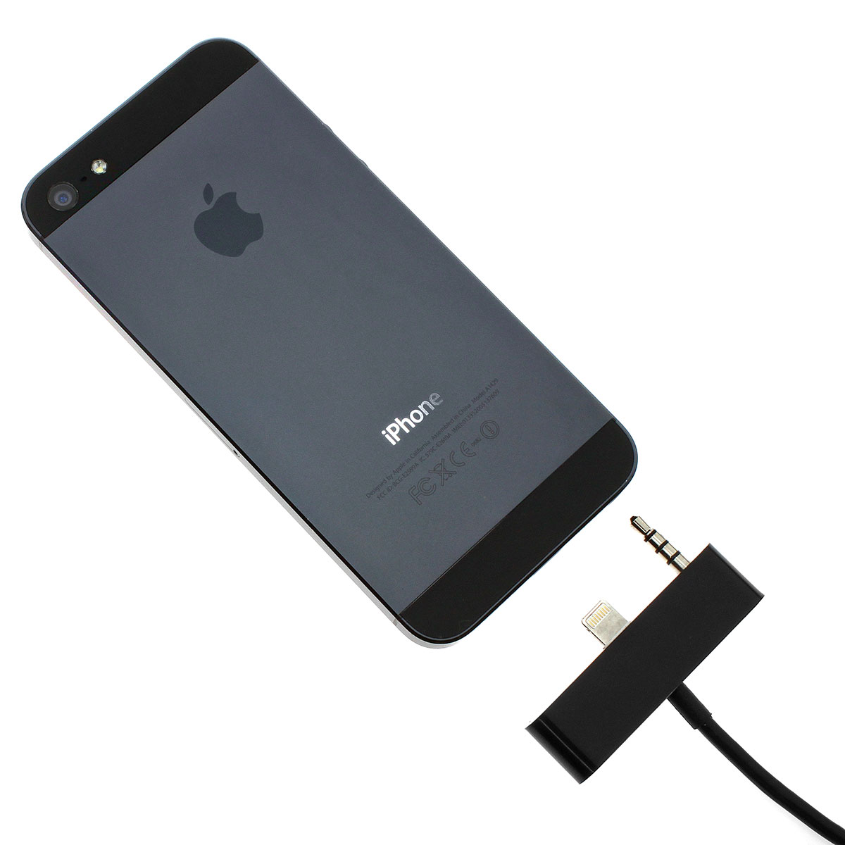 iphone 5 5s cinch klinke adapter stecker kabel usb aux auto kabel audio schwarz ebay. Black Bedroom Furniture Sets. Home Design Ideas