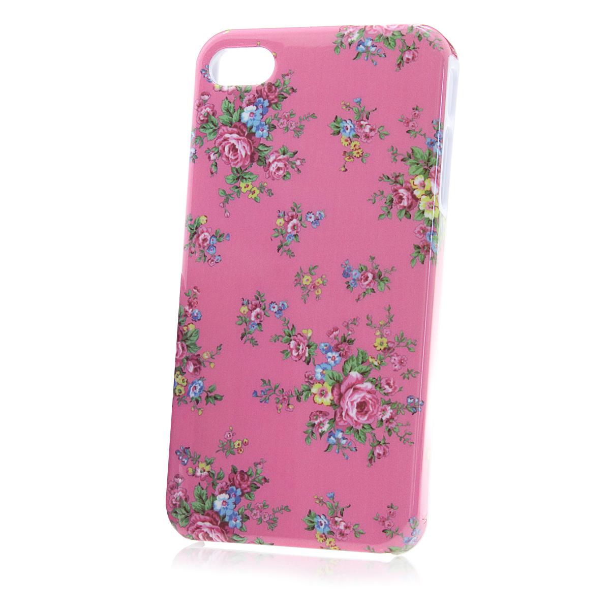apple iphone 4 4s handy h lle case schale in rosa blumen. Black Bedroom Furniture Sets. Home Design Ideas