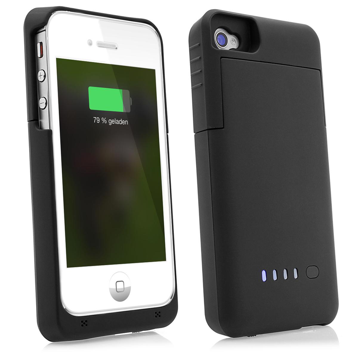 iPhone-4-4S-Power-Case-Akku-Li-Polymer-Cover-mit-1900mAh-Zusatzakku-schwarz