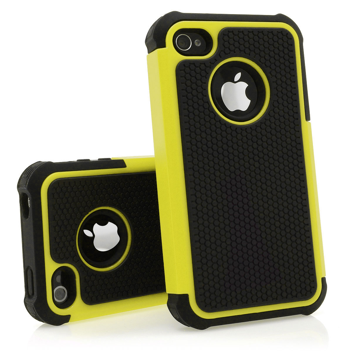 Silikon-Case-Schutz-Huelle-Cover-Bumper-Outdoor-fuer-Apple-iPhone-4-4S-in-8-Farben
