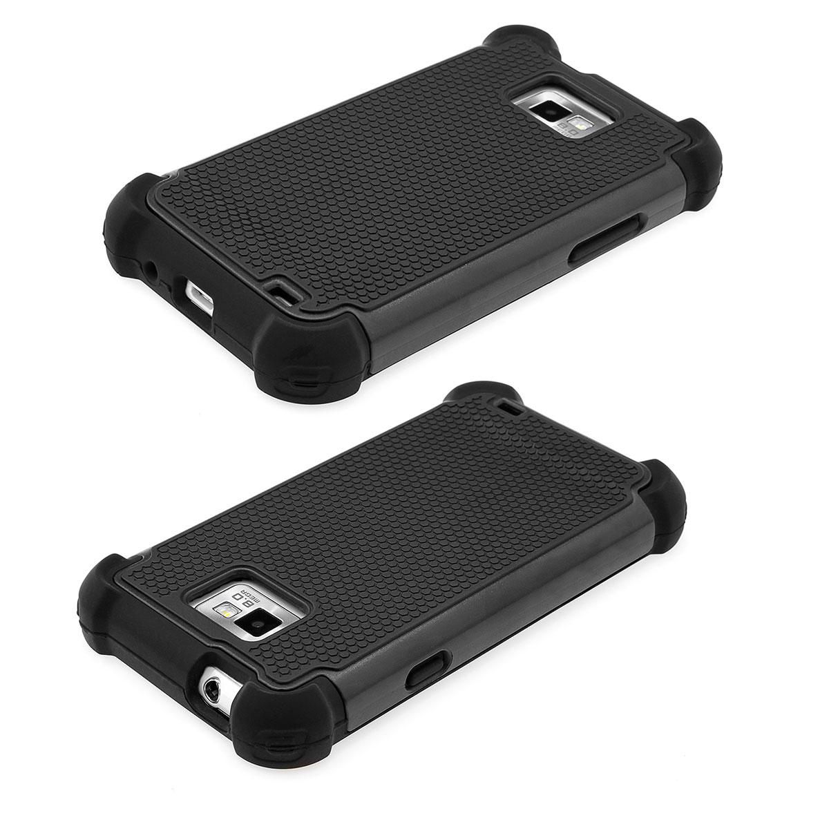 Samsung-Galaxy-S2-i9100-Outdoor-Bumper-Schutz-Huelle-Case-schwarz