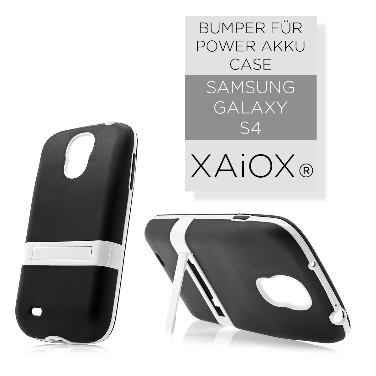 Samsung-Galaxy-S4-i9500-i9505-Backcover-fuer-Power-Akku-Deckel-Case-schwarz