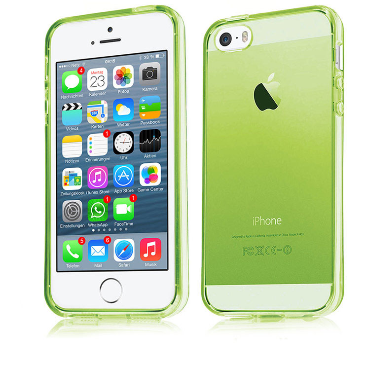 Slim-Apple-iPhone-4-4s-5-5s-TPU-Silicon-Schutz-Huelle-Bumper-Crystal-Case-Tasche