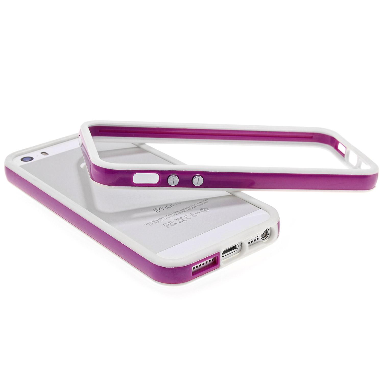 apple iphone 5 5s schutz h lle bumper case cover in lila. Black Bedroom Furniture Sets. Home Design Ideas