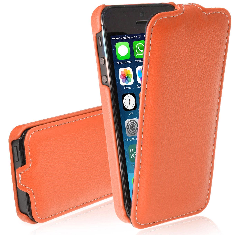apple iphone 5 5s luxus handy tasche flip case back cover. Black Bedroom Furniture Sets. Home Design Ideas