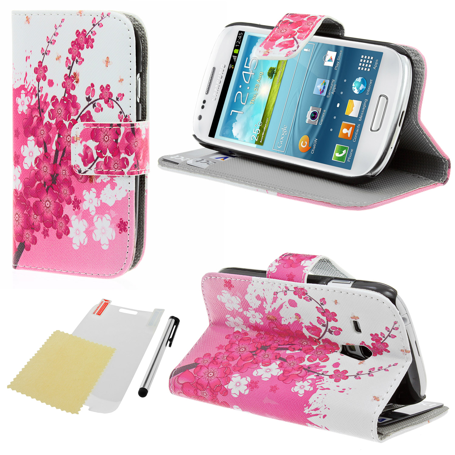 samsung galaxy s3 mini i8190 handyh lle wallet book style. Black Bedroom Furniture Sets. Home Design Ideas