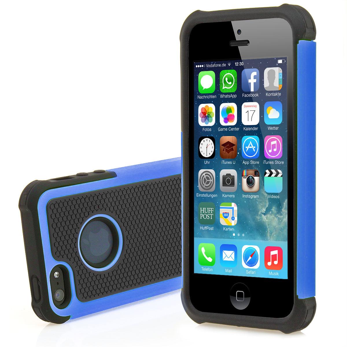apple iphone 5 5s outdoor silikon schutz h lle bumper anti shock case tasche ebay. Black Bedroom Furniture Sets. Home Design Ideas