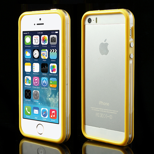Apple-iPhone-5-5s-TPU-Bumper-Silikon-Case-SchutzHuelle-Cover-Original-transparent