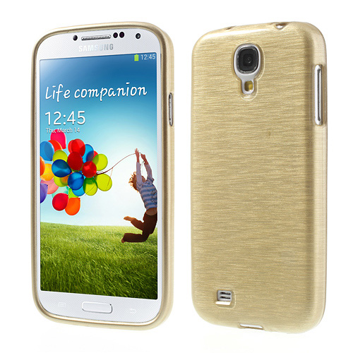 Samsung Galaxy S4 Brushed TPU Handy Cover Crystal Case Bumper Gebürstet Look