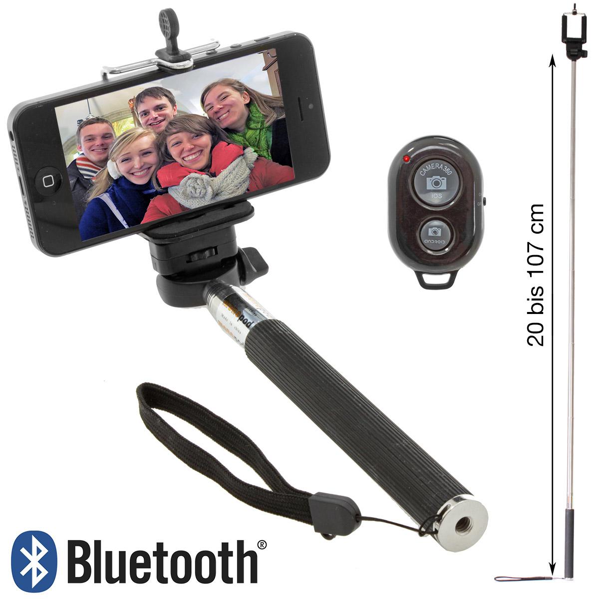 selfie stange bluetooth selbstausl ser fernbedienung ios android smartphone ebay. Black Bedroom Furniture Sets. Home Design Ideas