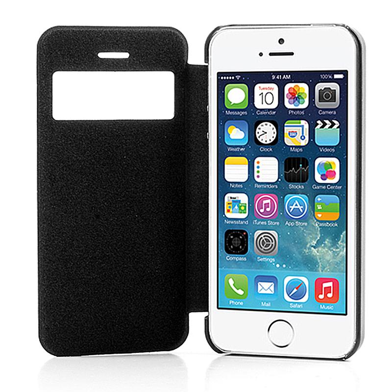 apple iphone 5 5s flip handytasche schutzh lle cover. Black Bedroom Furniture Sets. Home Design Ideas
