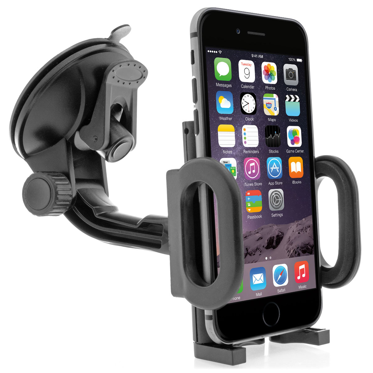 360 universal auto kfz halter halterung handy smartphone car holder mount lkw ebay. Black Bedroom Furniture Sets. Home Design Ideas