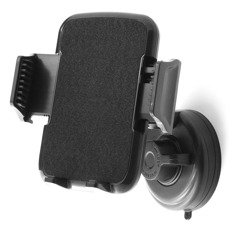 universal handy saugnapf kfz pkw lkw handy halterung auto 360 drehbar schwarz ebay. Black Bedroom Furniture Sets. Home Design Ideas