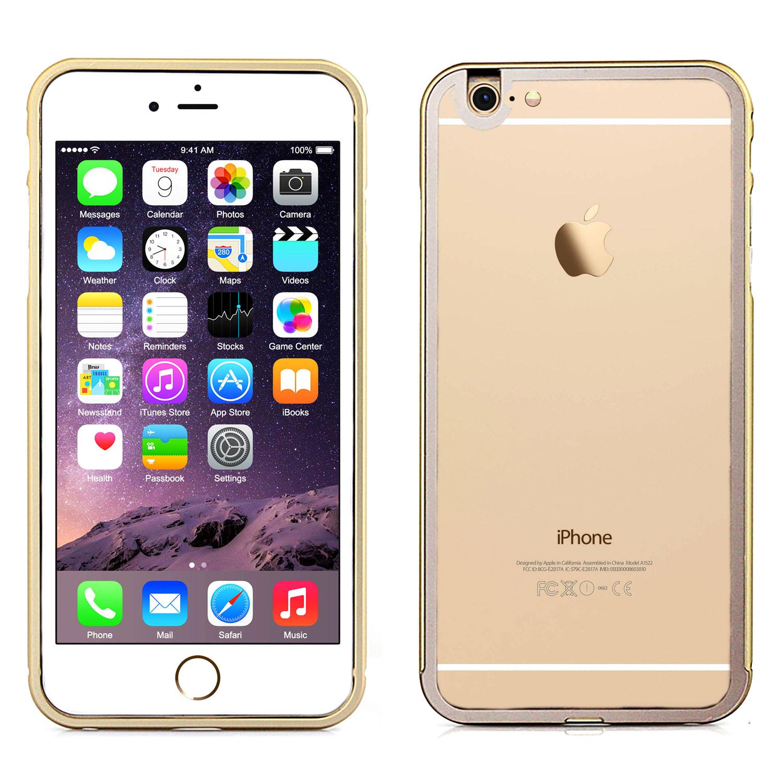 apple iphone 6 6 plus aviation cnc alu bumper mit transparenter schutz r ckseite ebay. Black Bedroom Furniture Sets. Home Design Ideas