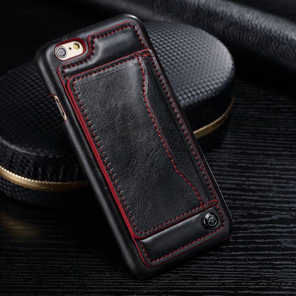 apple iphone 6 6s plus luxus handy h lle back cover etui case kreditkartenfach ebay. Black Bedroom Furniture Sets. Home Design Ideas