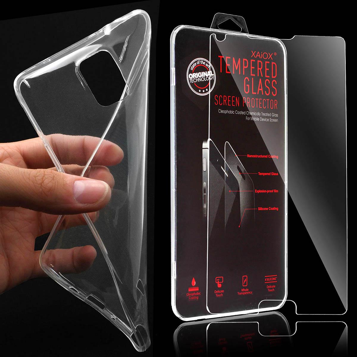 Handyhuelle-Schutz-Huelle-Tasche-Cover-Silikon-Bumper-PANZERGLAS-Schutzfolie