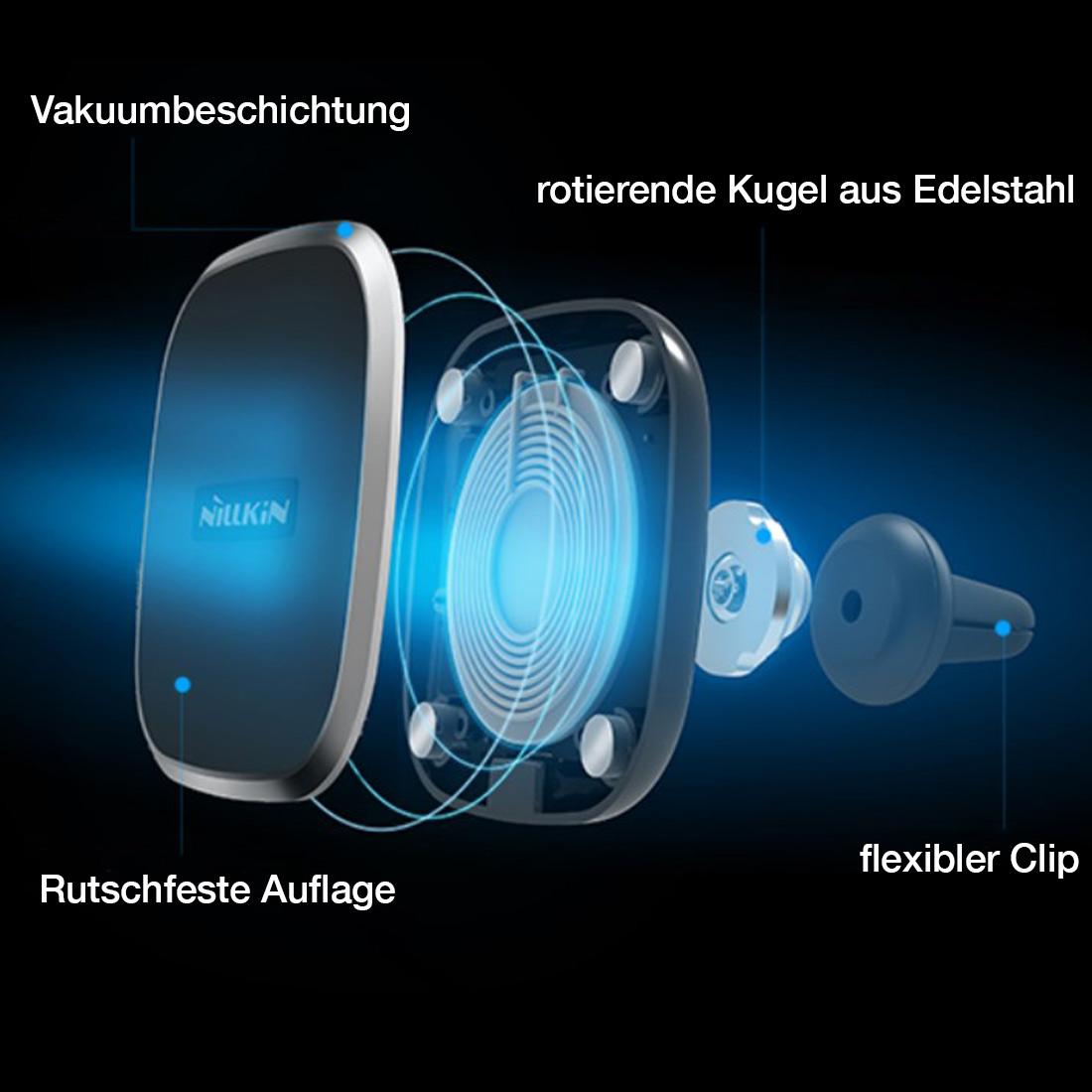 qi ladeger t kfz induktive wireless ladestation charger. Black Bedroom Furniture Sets. Home Design Ideas