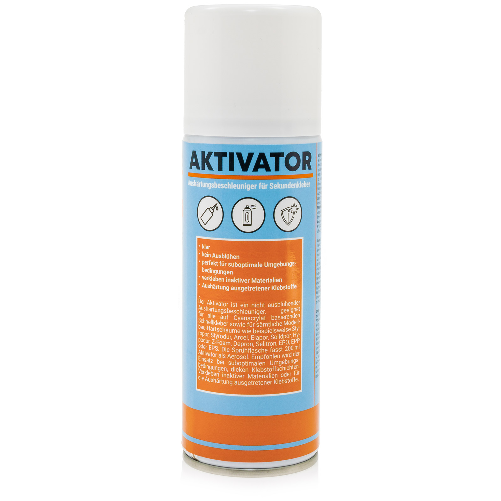 aktivator spray sekundenkleber superkleber spraydose 200ml