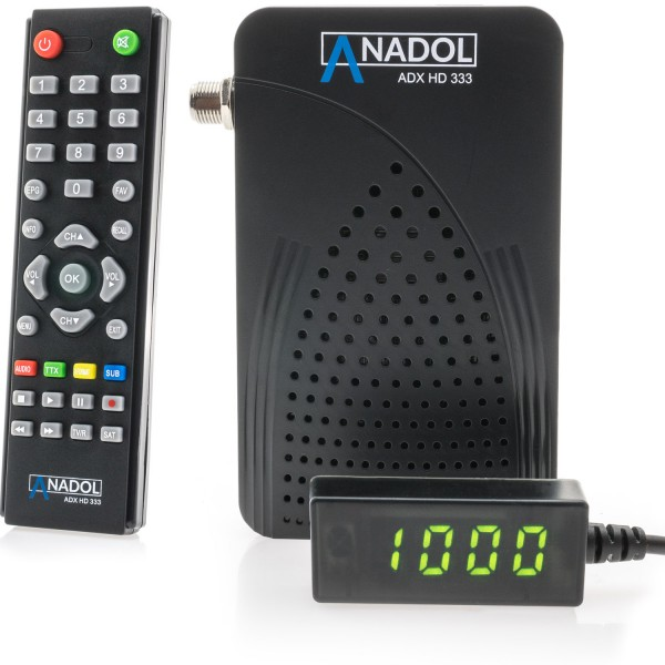 Anadol 333 FULL HD DVB-S2 MULTISTREAM FTA SAT RECEIVER USB, YOUTUBE, IPTV