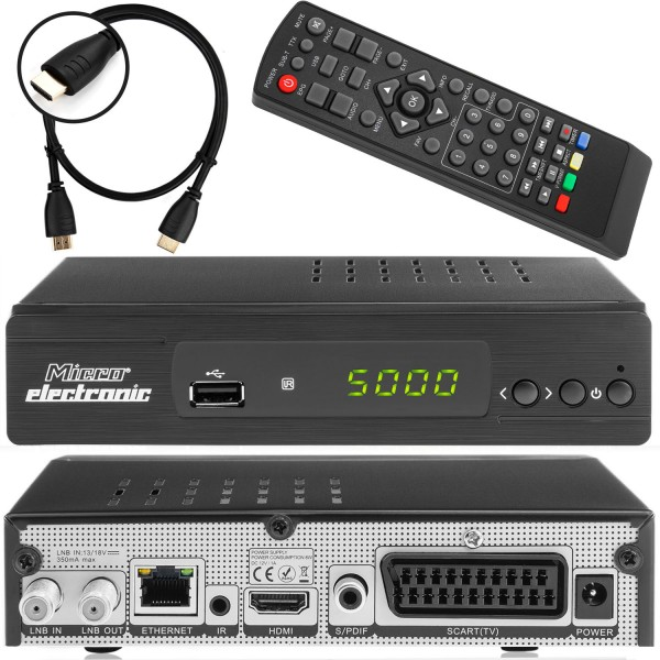 Micro m380 plus HD FULL 1080p Sat Receiver inkl. Babotech® HDMI Kabel