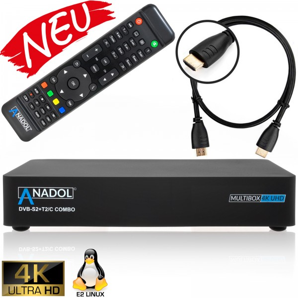 Anadol Multibox 4K DVB-S2 / DVB-C / C2 Kabel Receiver
