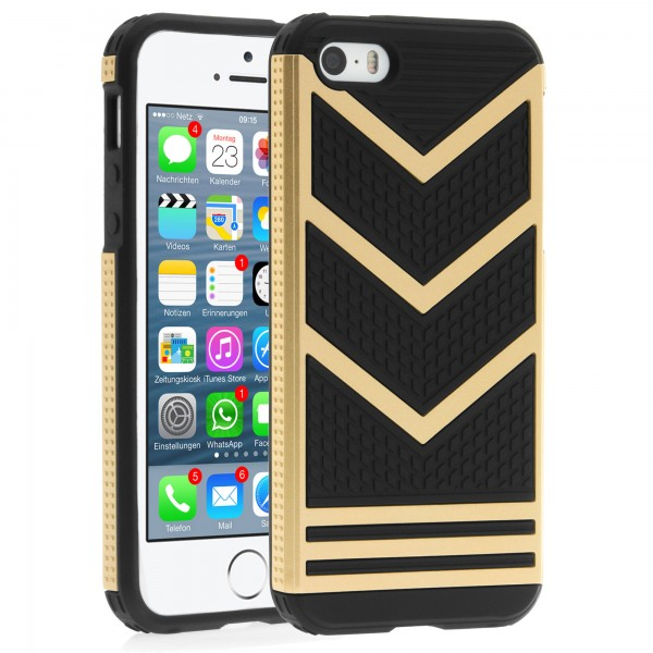 iPhone 5 / 5s Hülle Bumper Case Outdoor Backcover - gold