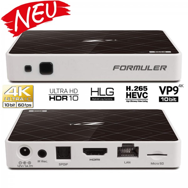 Formuler Z7+ 5G IPTV Box Android 7 Media Player TV IP Receiver, H.265 HEVC Kodi WIFI Stalker inkl. H