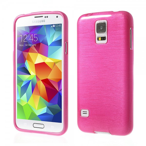 Samsung Galaxy S5 G900 brushed TPU Hülle - pink
