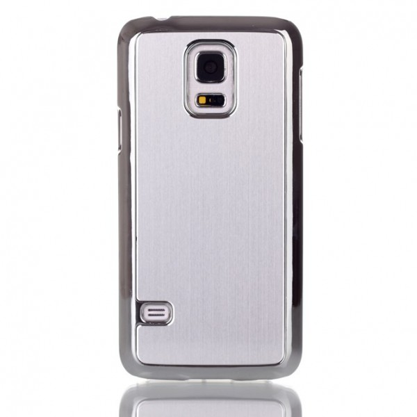 Samsung Galaxy S5 mini G800 Brushed Aluminum Hülle in Chrome Silber