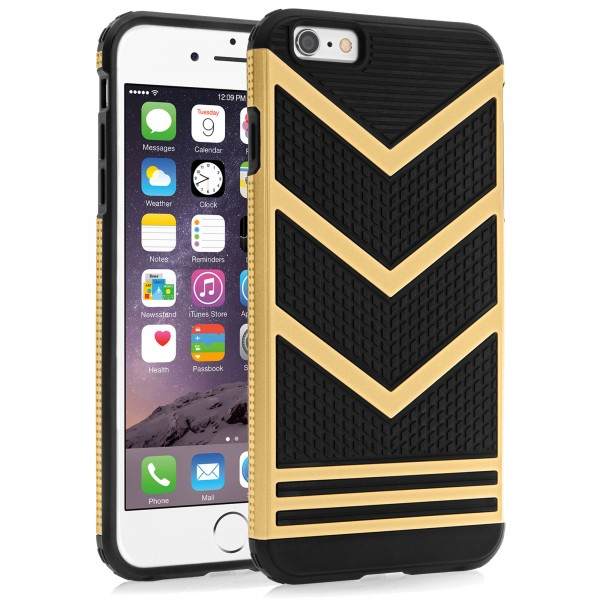 iPhone 6 / 6s Plus Hülle Bumper Outdoor Backcover - gold