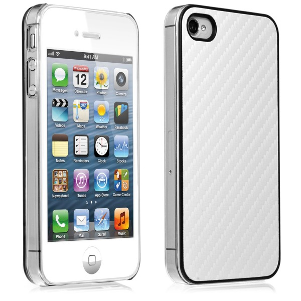 iPhone 4 / 4s Kunststoff Cover Weiss