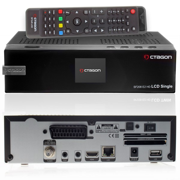Octagon Single LCD E2 Linux Receiver mit 1x Sat Tuner