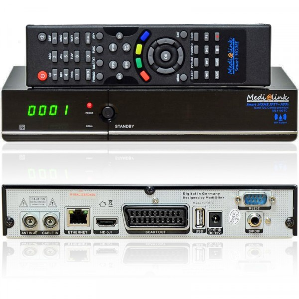 Medialink ML 4100 Smart Home T2C 1x Card Premium 1x DVB-C/T2 IPTV