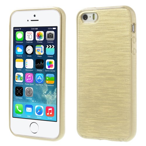 Apple iPhone 5s brushed TPU Hülle - gold