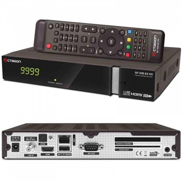 Fi1 - Octagon SF108 E2 HD Full HD Linux Sat Receiver Schwarz