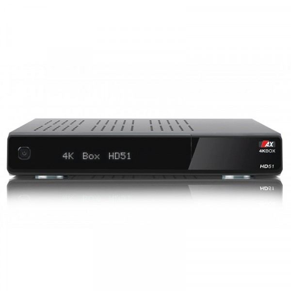 AX 4K-BOX HD51 UHD 2160p E2 Linux 2xDVB-S2 Receiver INKL. 500GB HDD