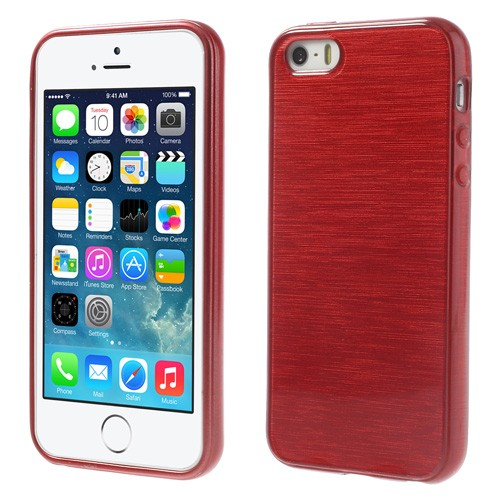 Apple iPhone 5s brushed TPU Hülle - rot